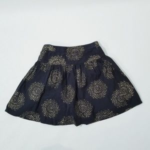 Gap Kids Skirt black Gold Zip Buttons